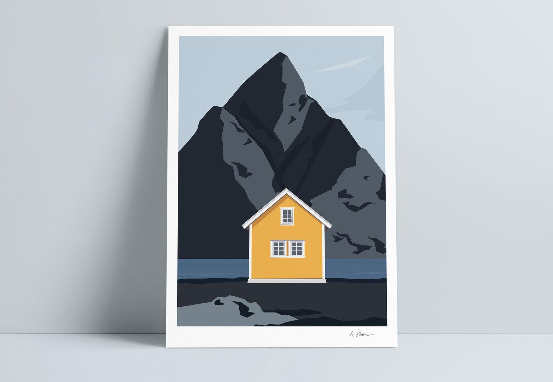 A STORM print - Lofoten yellow -