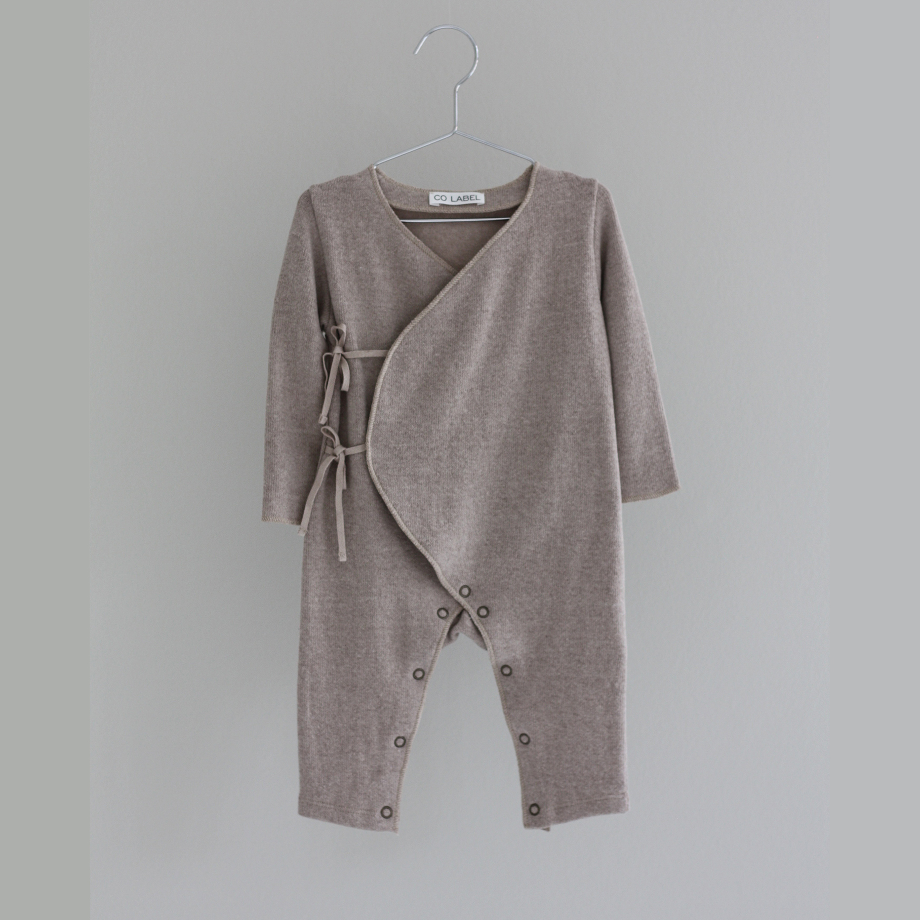 CO LABEL Warm cotton Eddie babysuit - Oat -