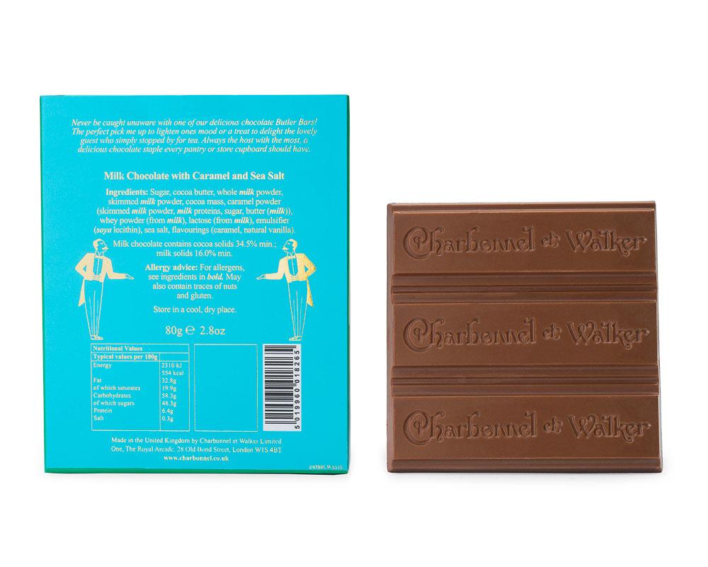 Charbonnel et Walker - Sea Salt Caramel Milk Chocolate Butler Bar -