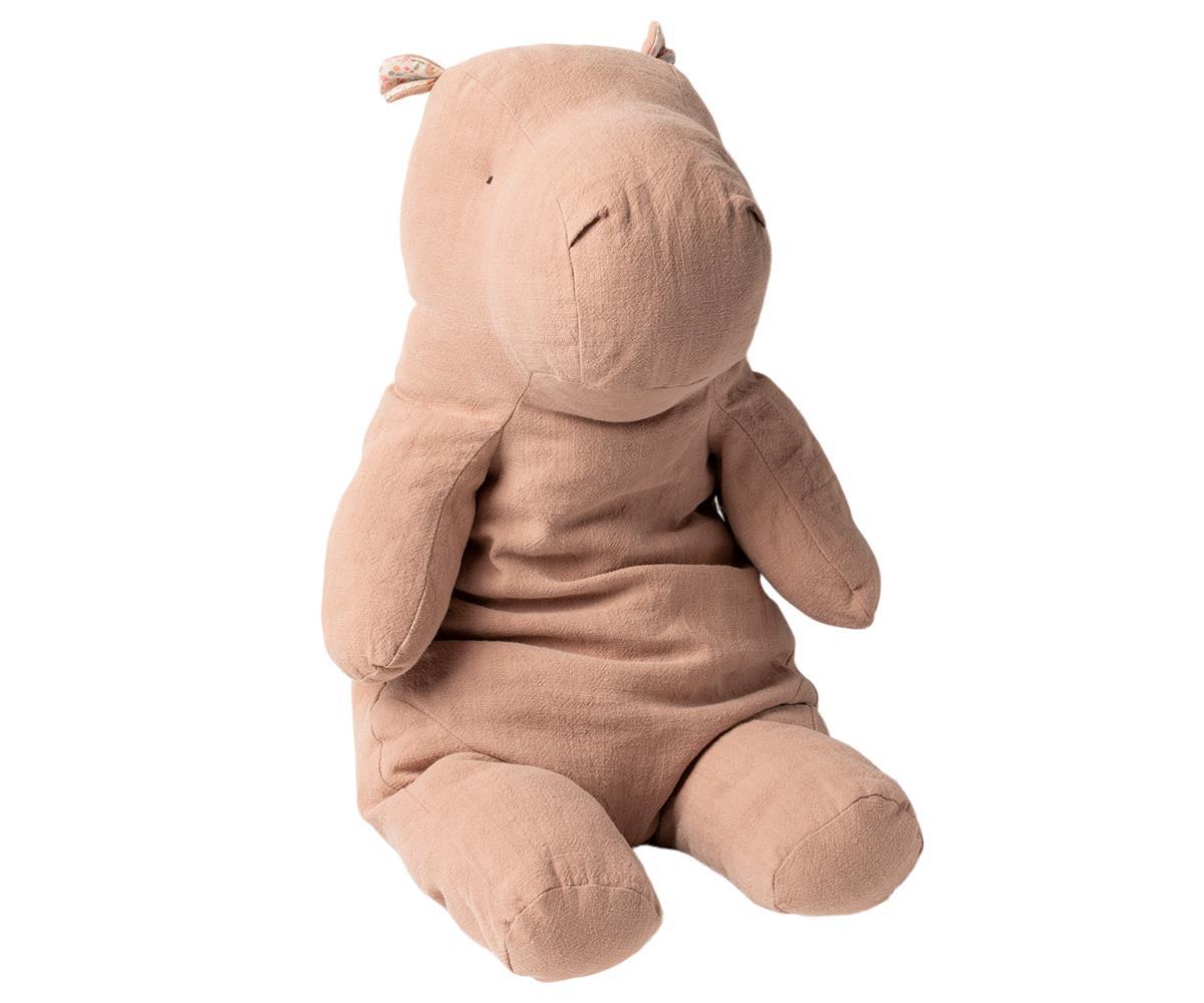 MAILEG Big hippo - dusty rose -