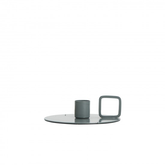 By On Art candle holder -blueish grey-