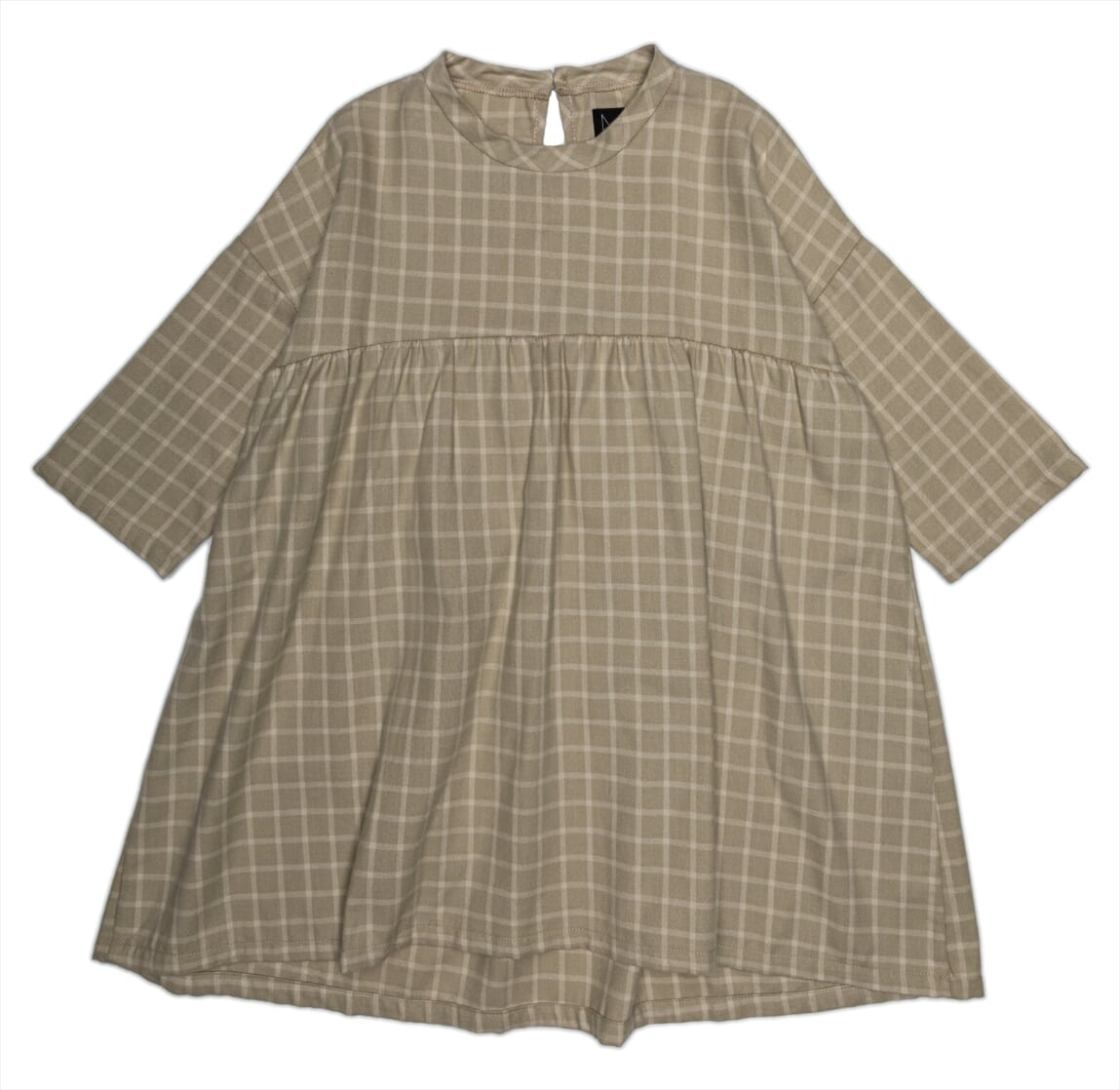 MONKIND Dress -Neutral checked -