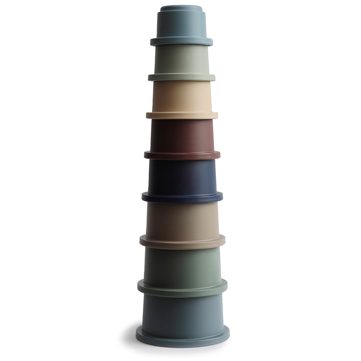 MUSHIE Stacking cups stabletårn - Forest -