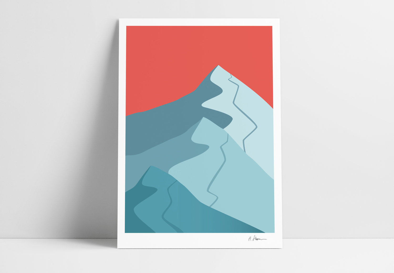 A STORM print - Mountains -
