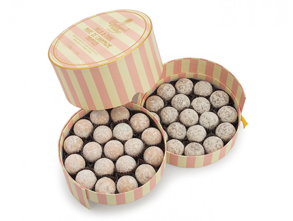 Charbonnel  et Walker - Milk & Pink Marc de Champagne truffle assortment -