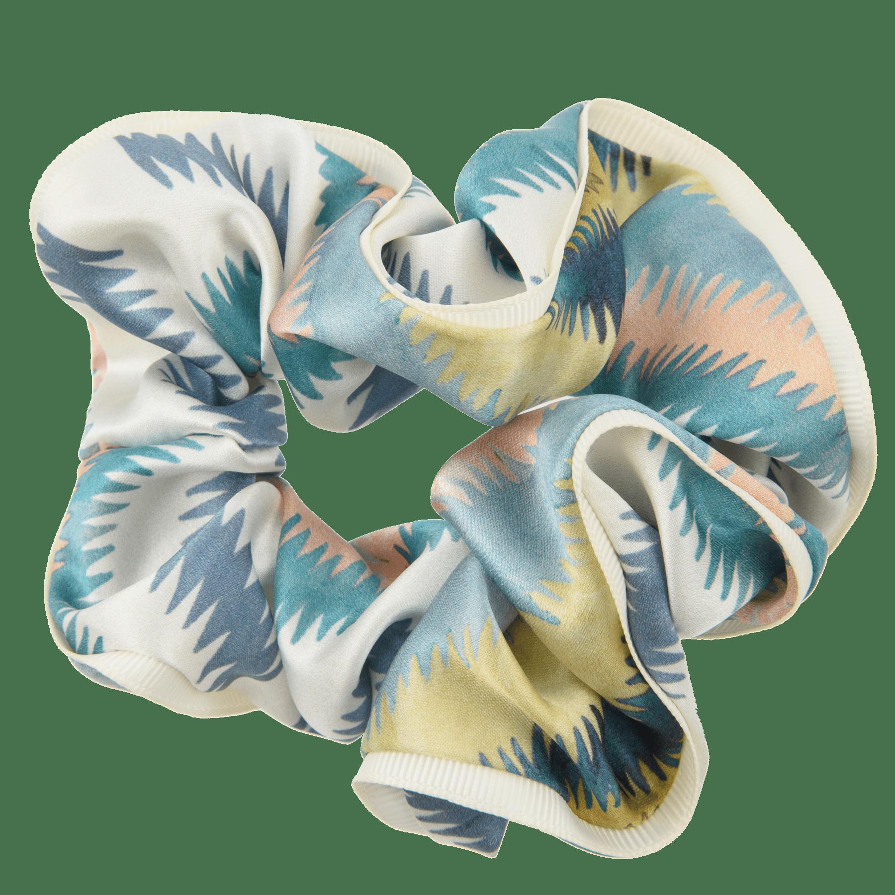 BON DEP Liberty silk scrunchie - Geo jewel -