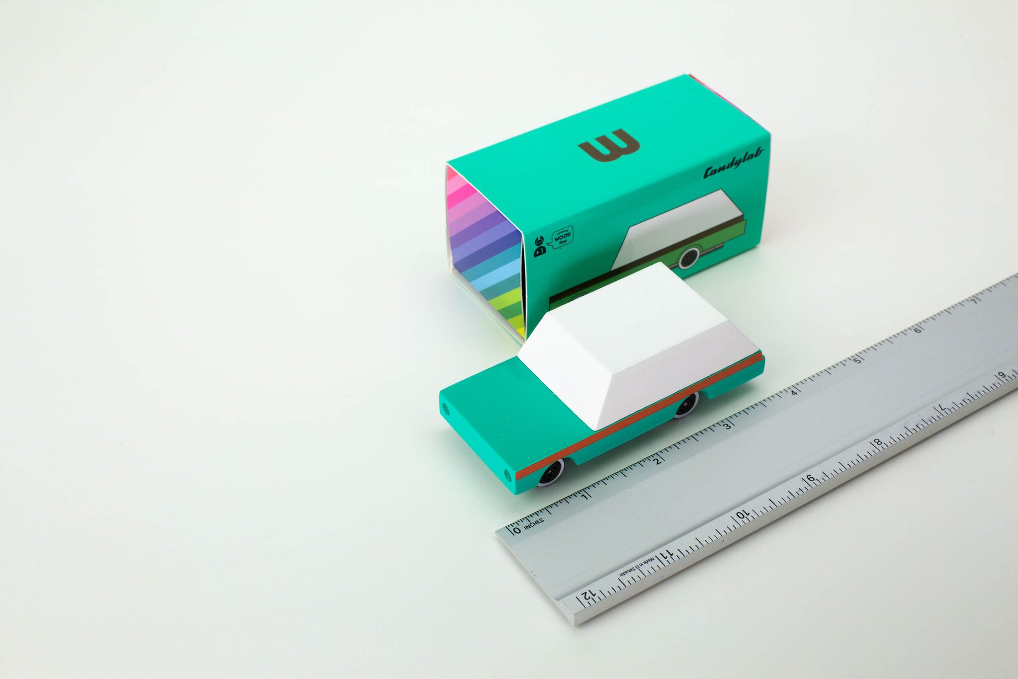 CANDYLAB Candy cars - Teal wagon -