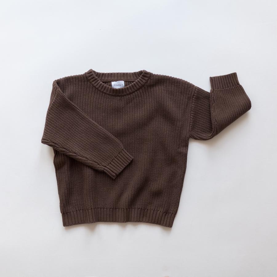 KINDLY (Tidligere Fireldday) Chunky knit genser - Espresso -
