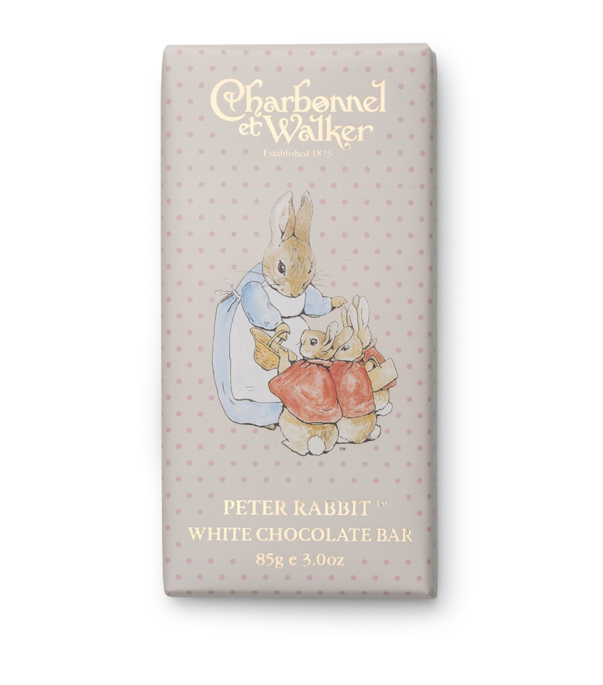 Charbonnel et Walker - Peter rabbit white chocolate bar -