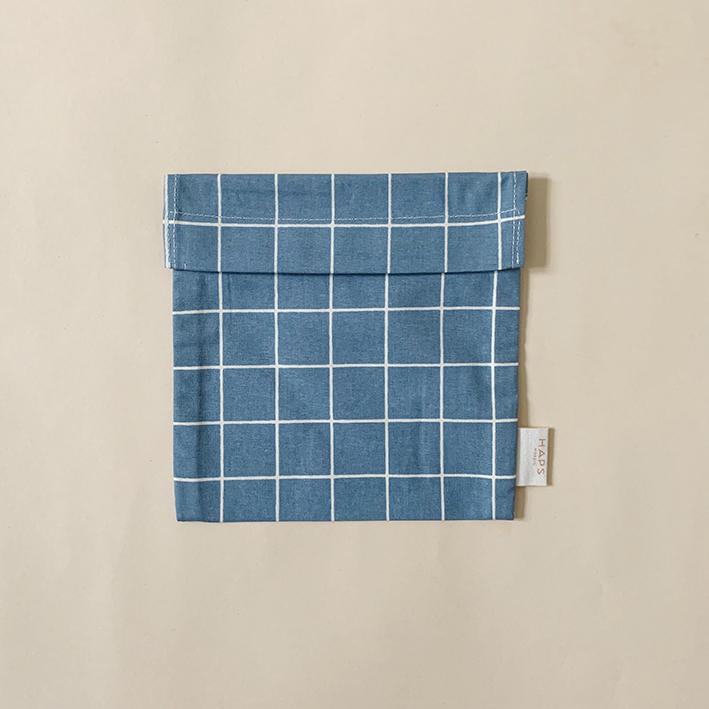 Haps Sandwich bag Matpakkepose -Check Ocean-