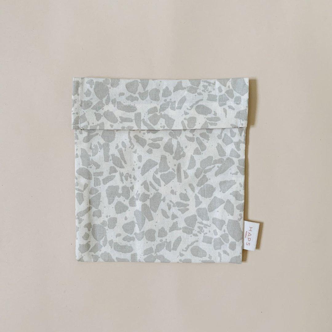 Haps Sandwich bag Matpakkepose -Terrazzo Oyster grey-