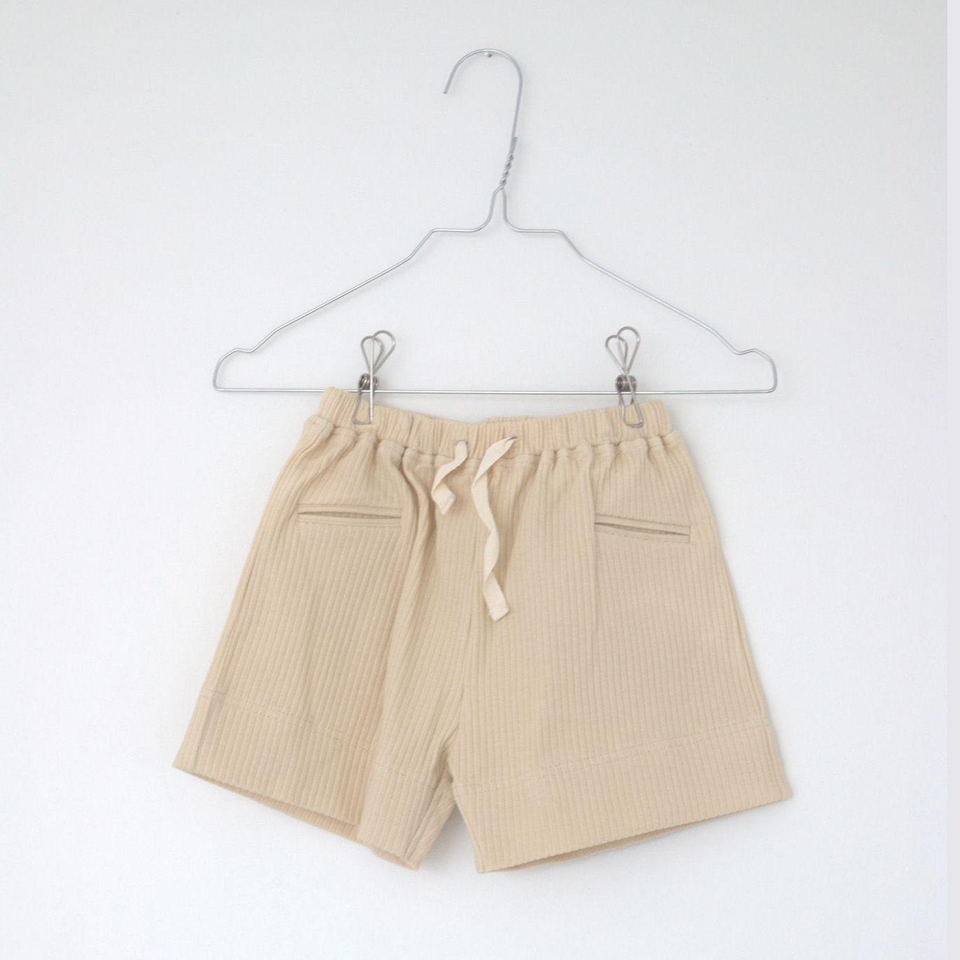Lah Lan Rib shorts - Bone -