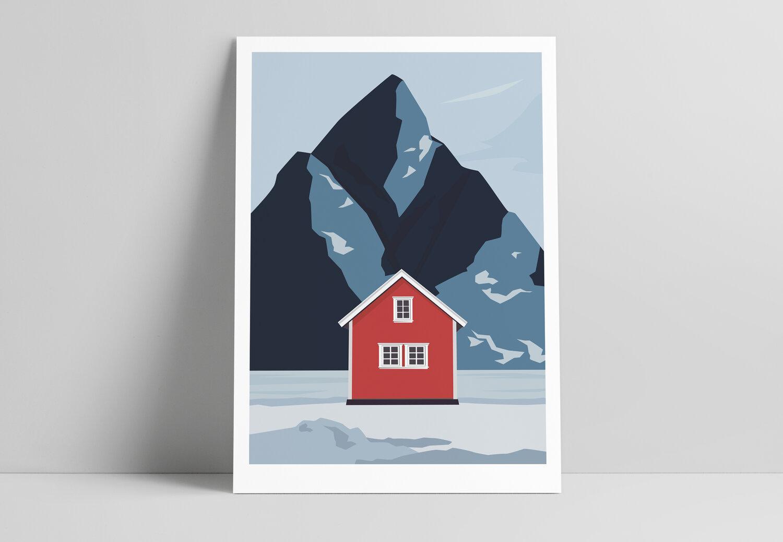 A STORM print - Lofoten red -