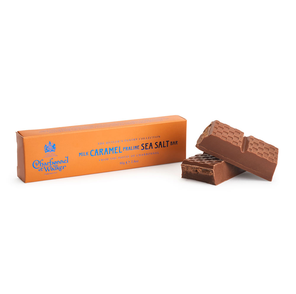 Charbonnel et Walker - Milk Sea Salt Praline Caramel Chocolate Bar -