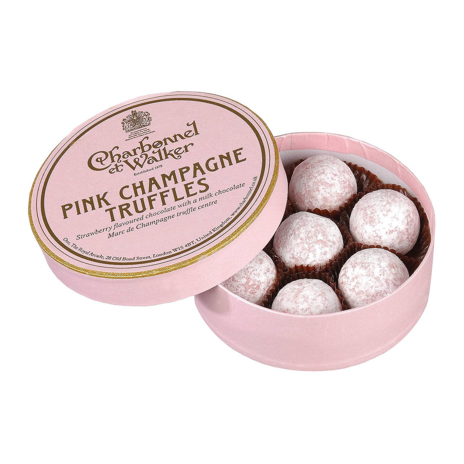 Charbonnel et Walker - Pink Marc de Champagne truffles -