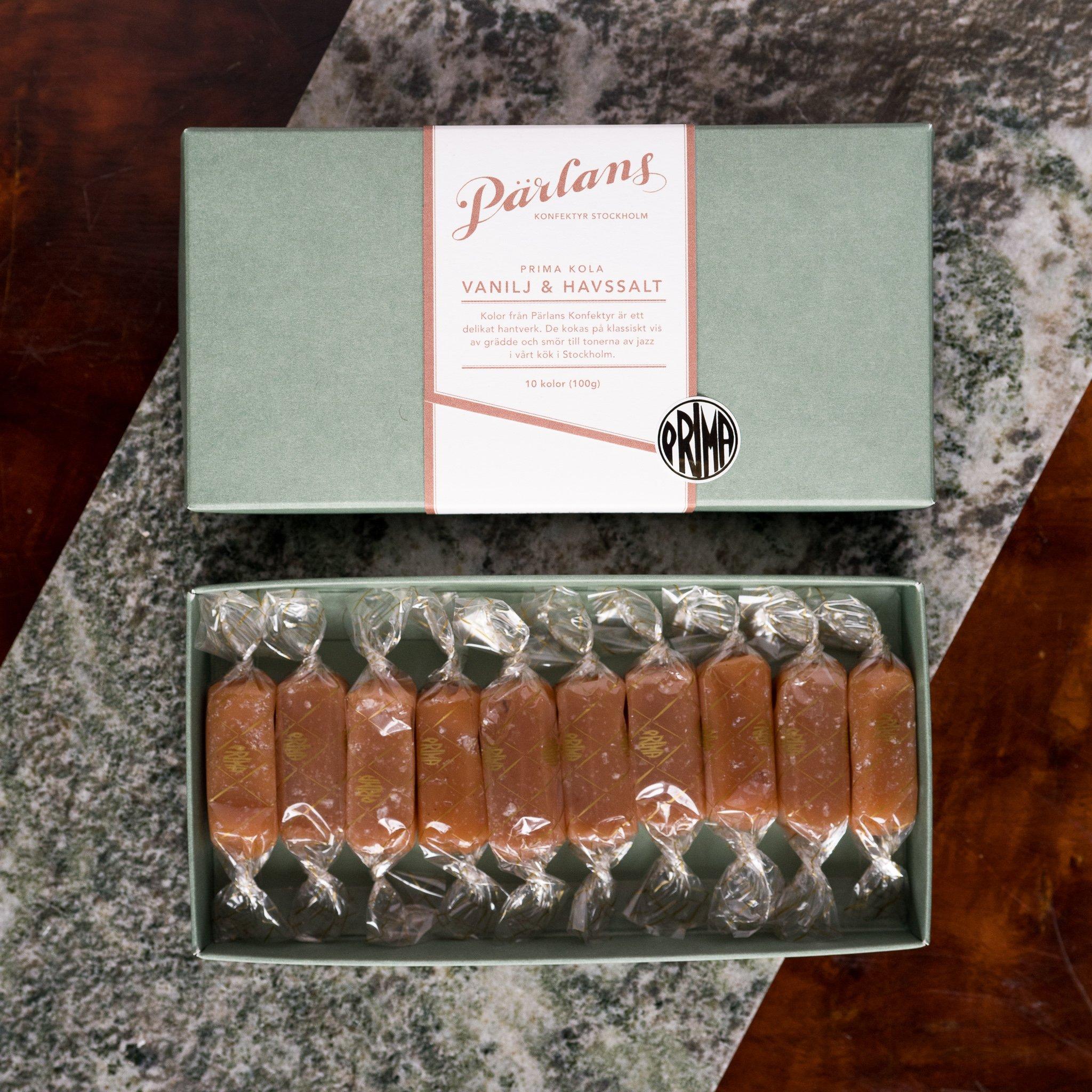 Pärlans konfektyr karameller 10stk -VANILJE & HAVSALT-