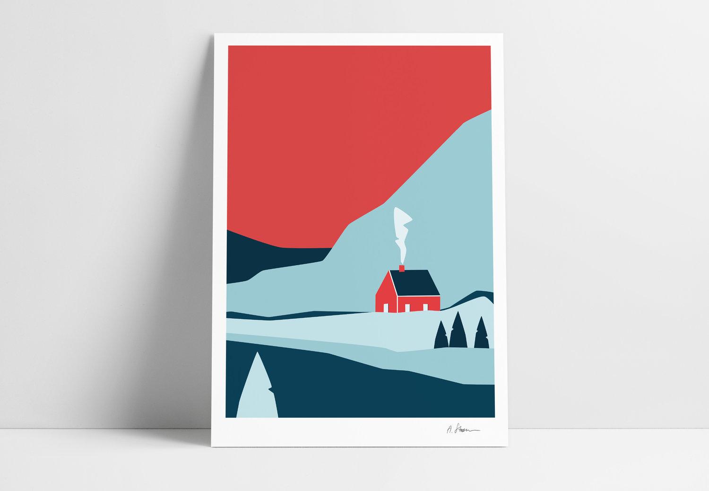 A STORM print - Hytte -