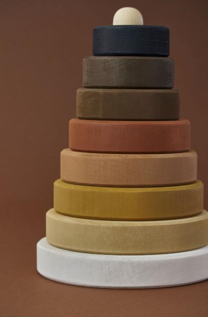 RADUGA GREZ Skintones stacking tower - Black & white -