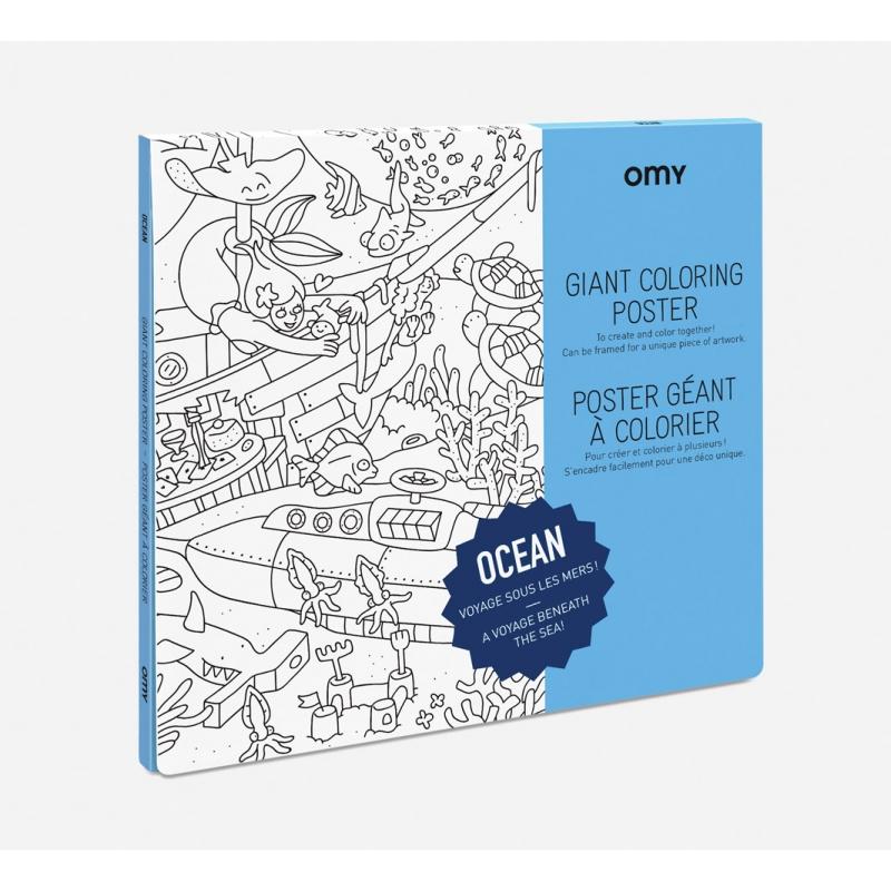 OMY Poster til fargelegging - Ocean -