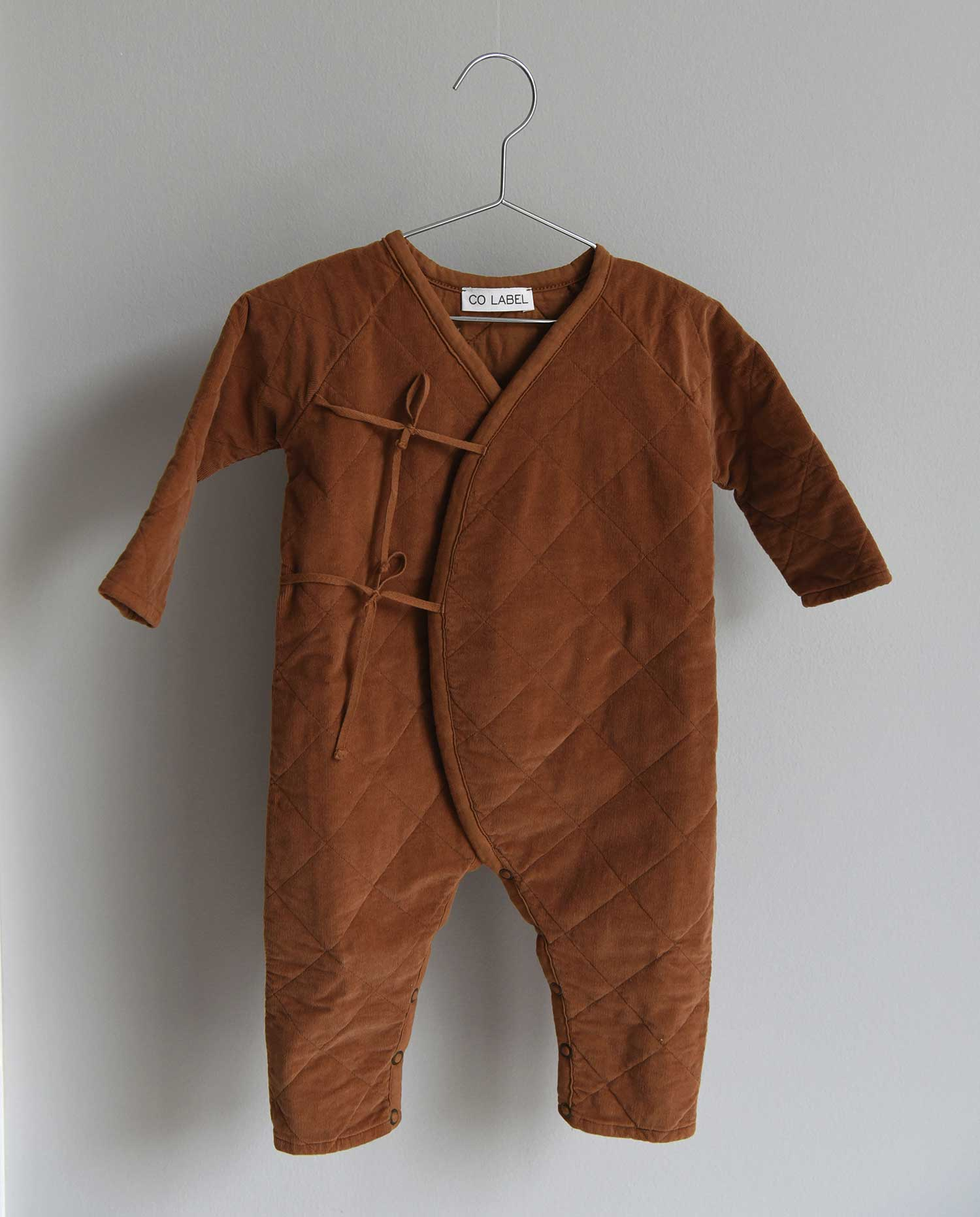 CO LABEL Eddie babysuit - Tabacco -