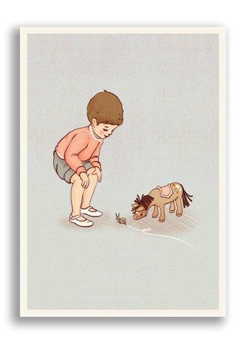 Belle & boo Postkort Snegle
