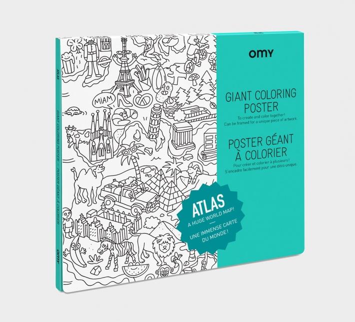 OMY Poster til fargelegging - Atlas -