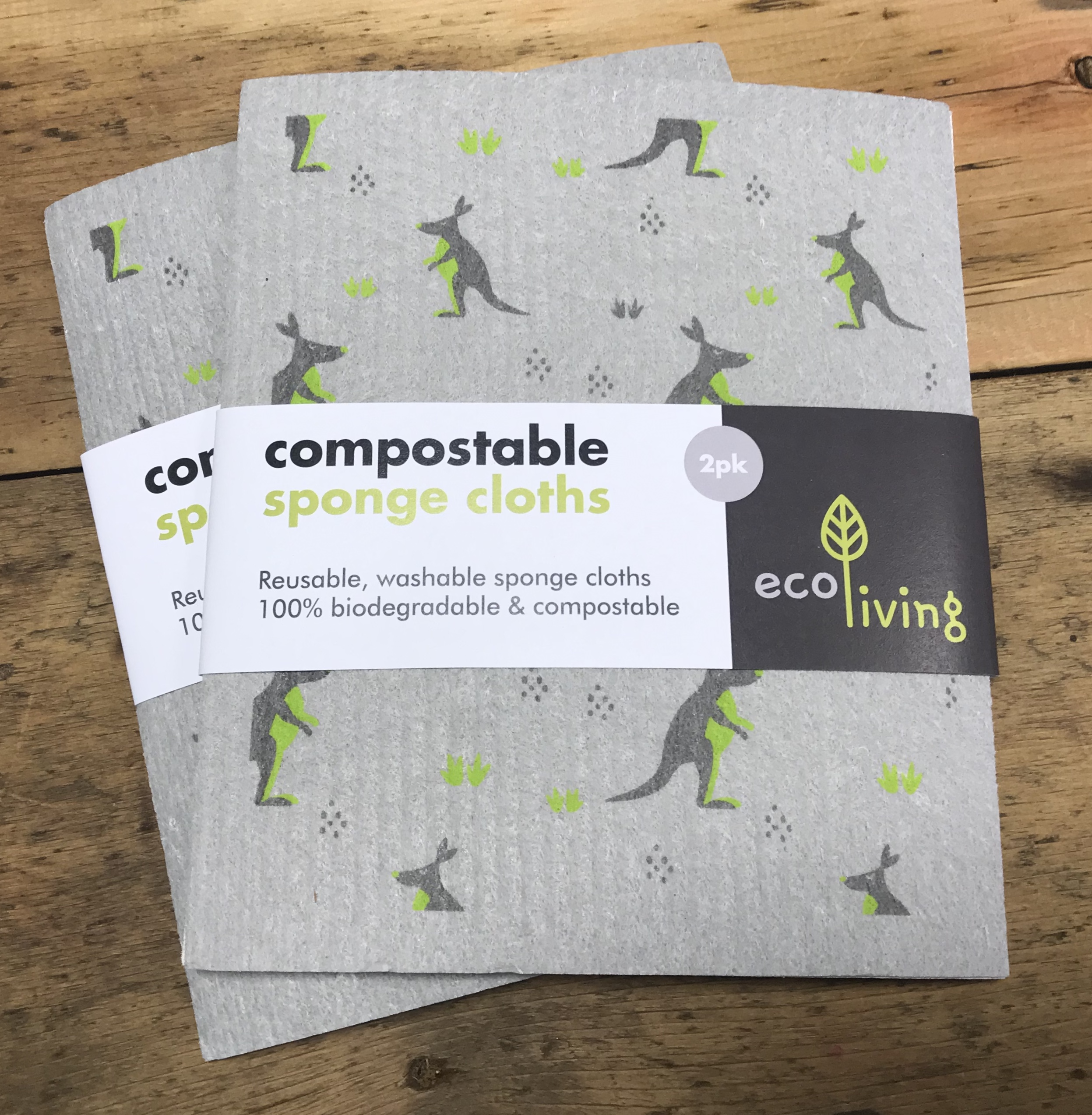 Compostable Sponge Cleaning Clothes - 2 Pack