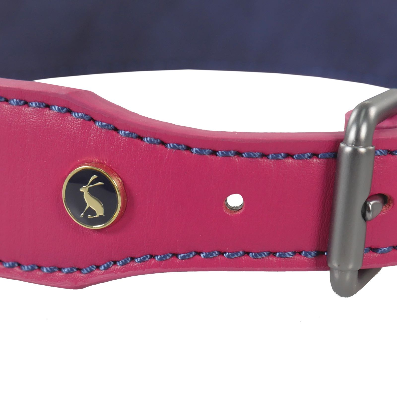 Joules Pink Leather Dog Collar XLarge 56cm-66cm Golden Retrievers/Rottweiler/Setter