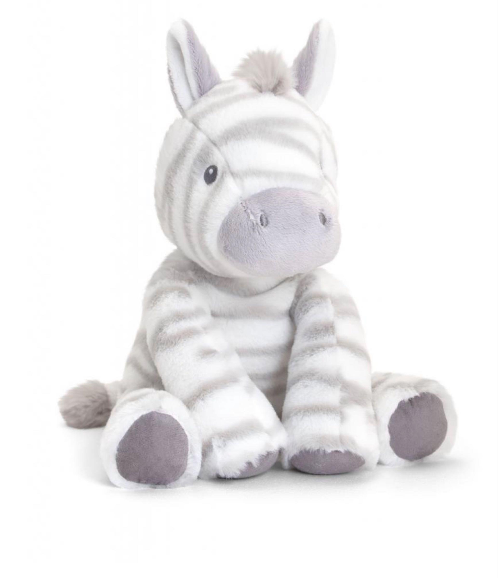 25cm Eco Cuddle Zebra