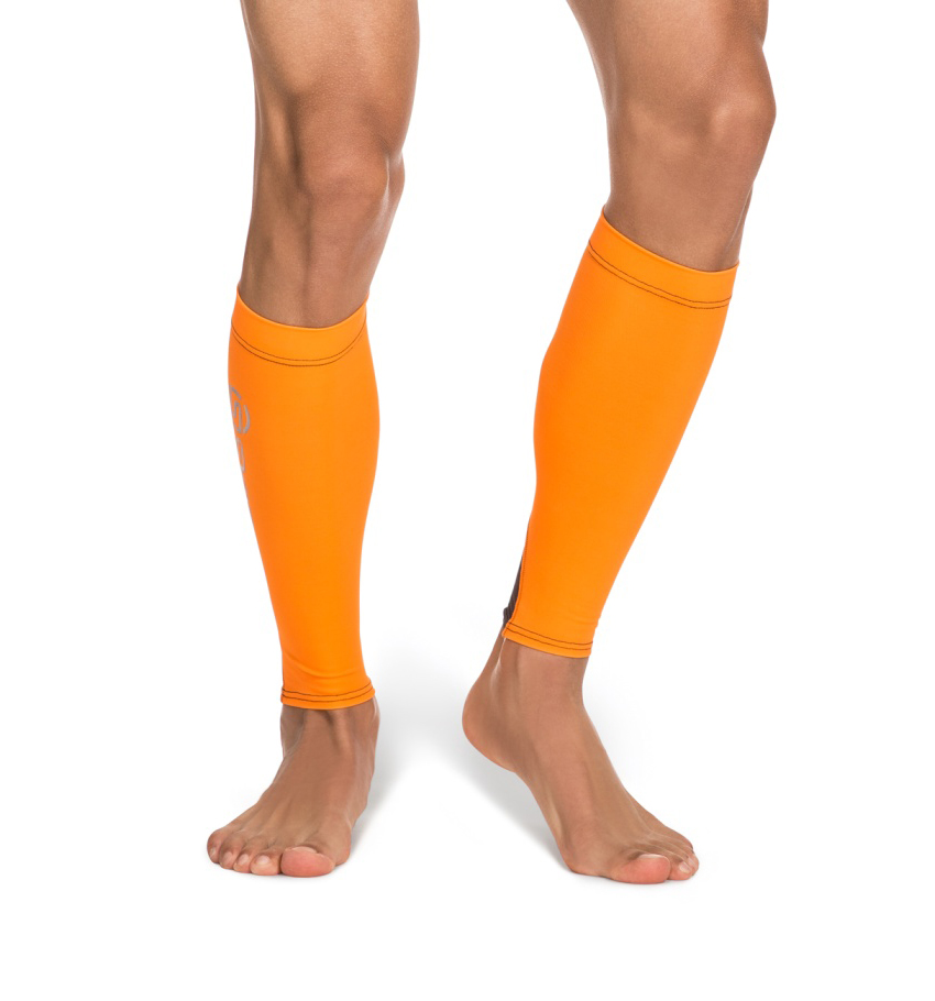 Unisex Calf Tights Orange/Black