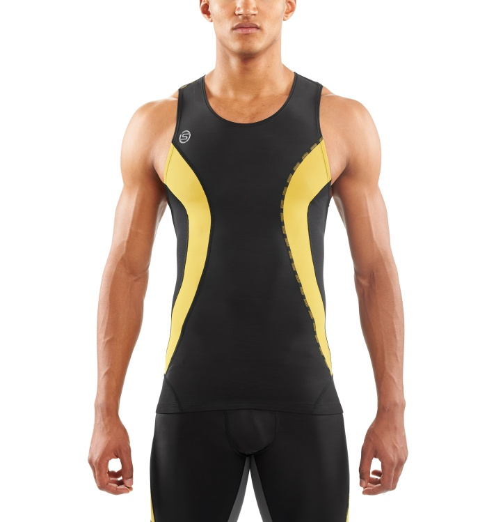 DNAmic Men Top Sleeveless Black/Citron