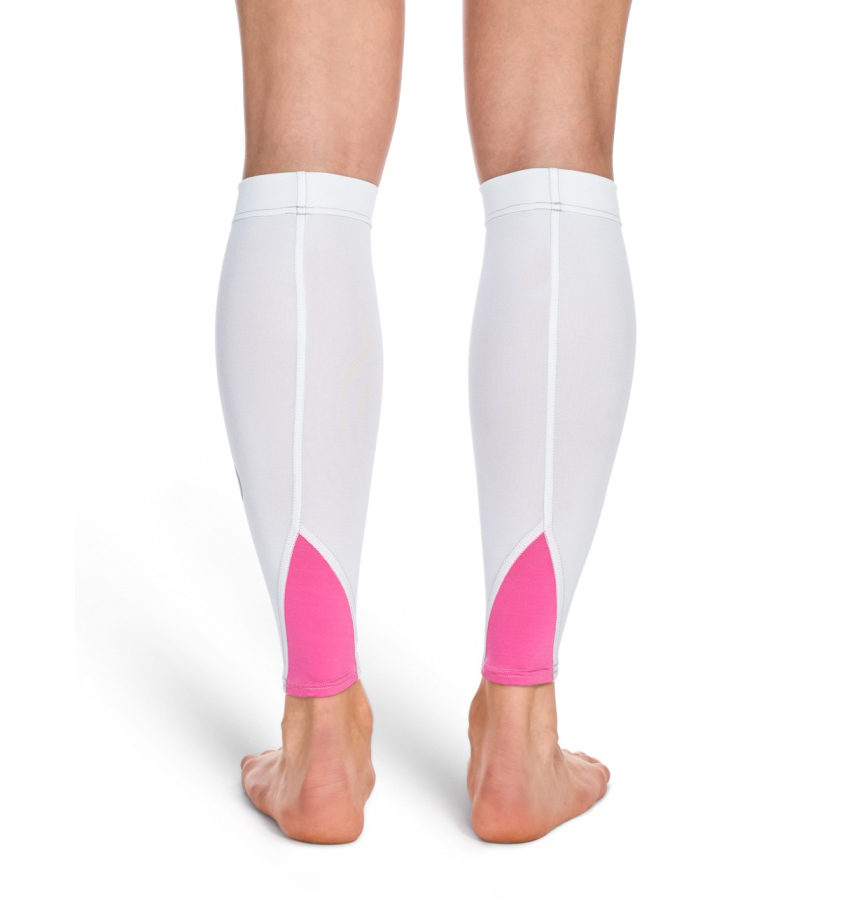 Unisex Calf Tights White/Pink