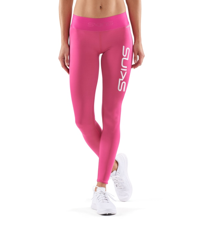 Primary W Long Tights Pink Logo