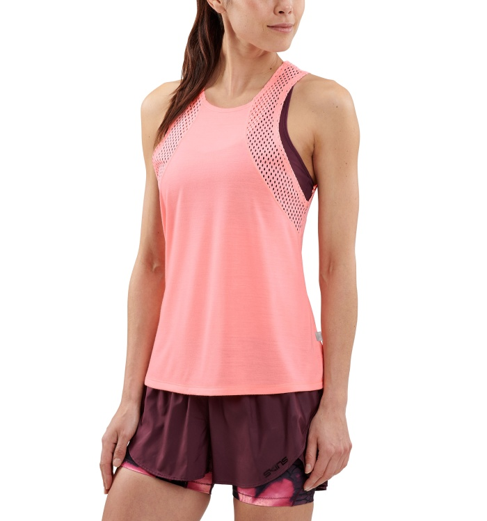 AW Odot Womens Tank Top Fluro Peach