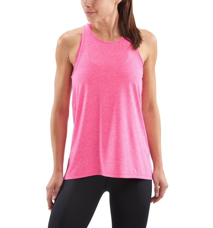 AW Siken Womens Tank Top Pink Marle