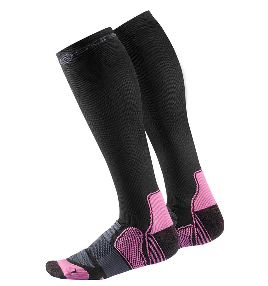 Women Compression Socks Black/Bright Pink