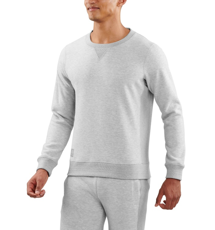 AW Linear Tech Fleece Mens L/S Silver Marle