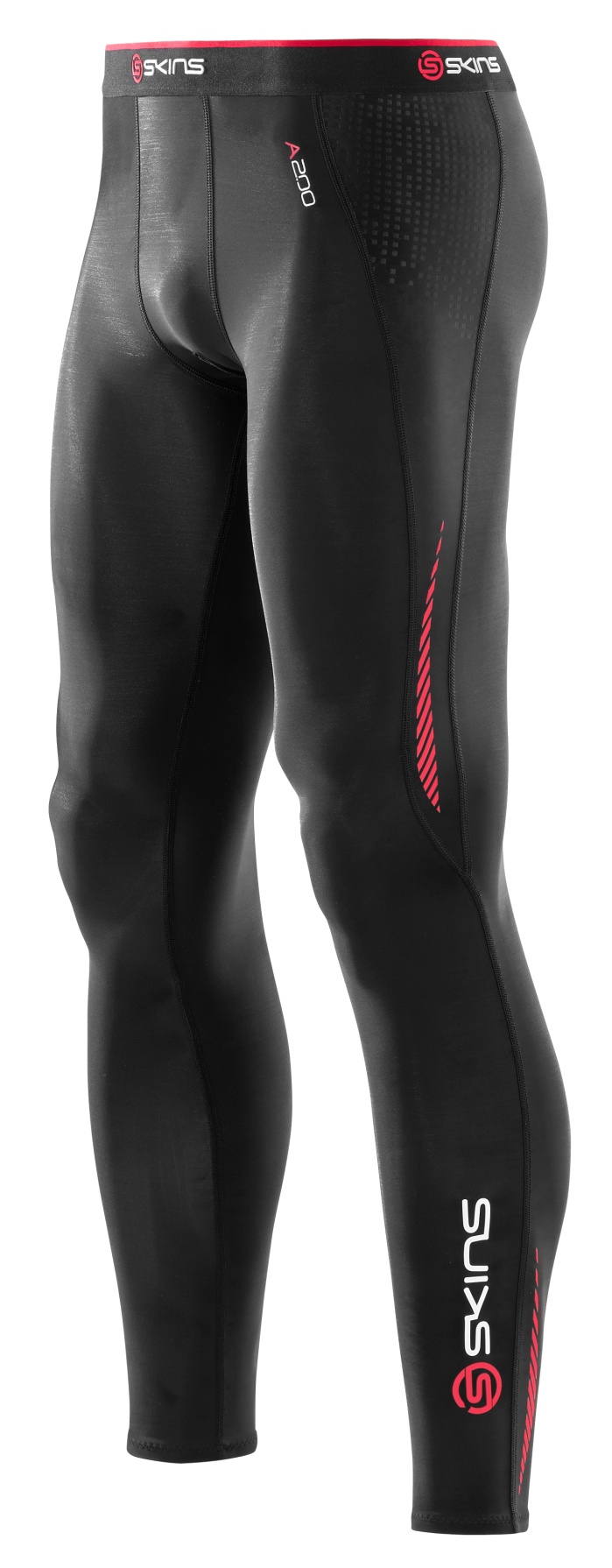 A200 Mens Long Tights Black/Red