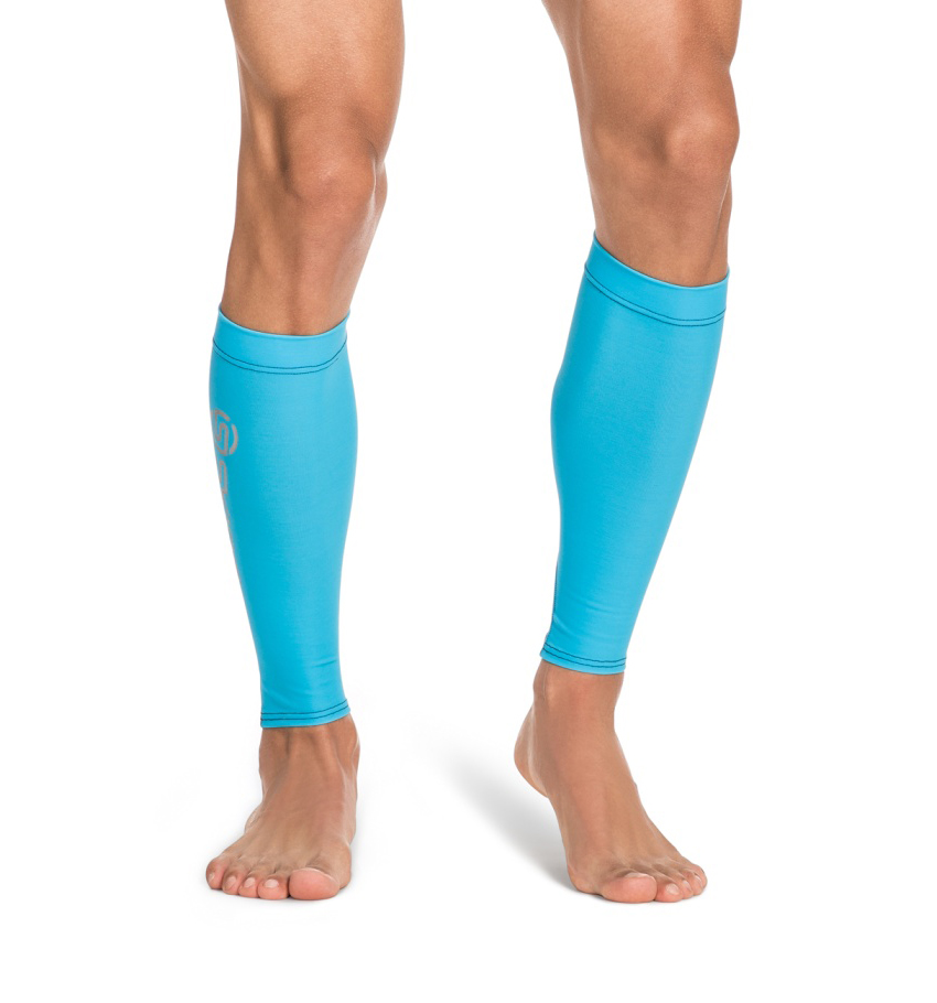 Unisex Calf Tights Cyan/Black