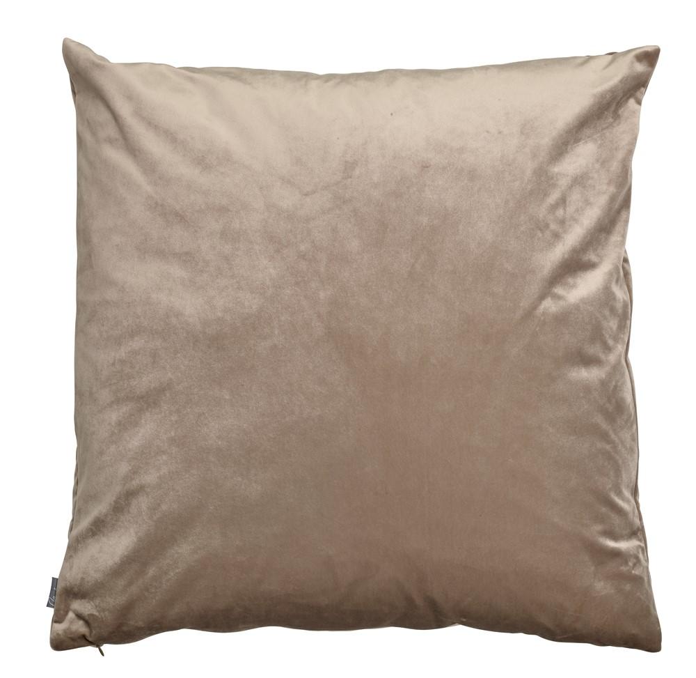 KUDDFODRAL sand/sammet 50x50