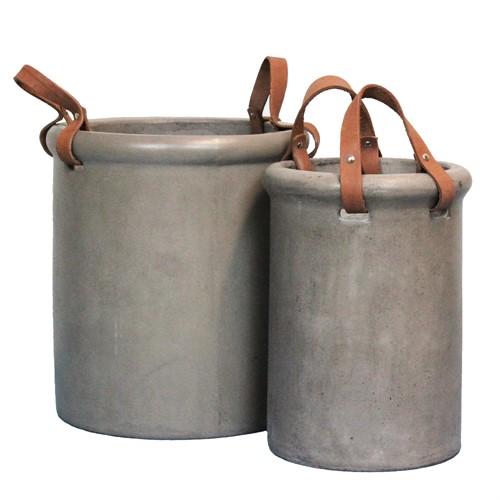 KRUKA betong/läder (endast i butik)
