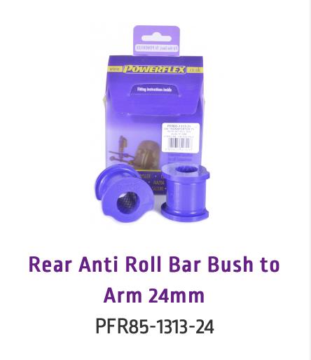 Rear Anti Roll Bar Bush to Arm 24mm (PFR85-1313-24 & PFR85-1313-24BLK)