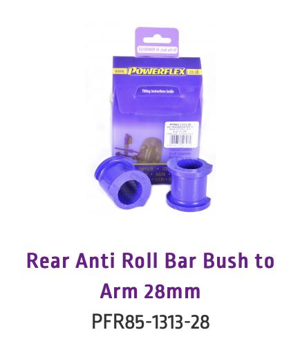 Rear Anti Roll Bar Bush to Arm 28mm (PFR85-1313-28 & PFR85-1313-28BLK)