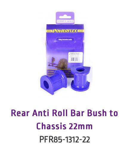Rear Anti Roll Bar Bush to Chassis 22mm (PFR85-1312-22 & PFR85-1312-22BLK)