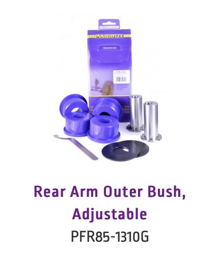 Rear Arm Outer Bush, Adjustable (PFR85-1310G & PFR85-1310GBLK)