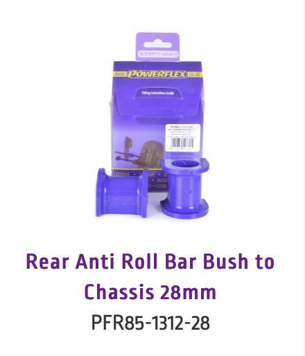 Rear Anti Roll Bar Bush to Chassis 28mm (PFR85-1312-28 & PFR85-1312-28BLK)