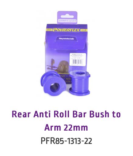 Rear Anti Roll Bar Bush to Arm 22mm (PFR85-1313-22 & PFR85-1313-22BLK)