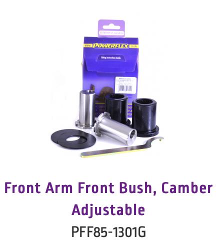 Front Arm Front Bush, Camber Adjustable (PFF85-1301G & PFF85-1301GBLK)