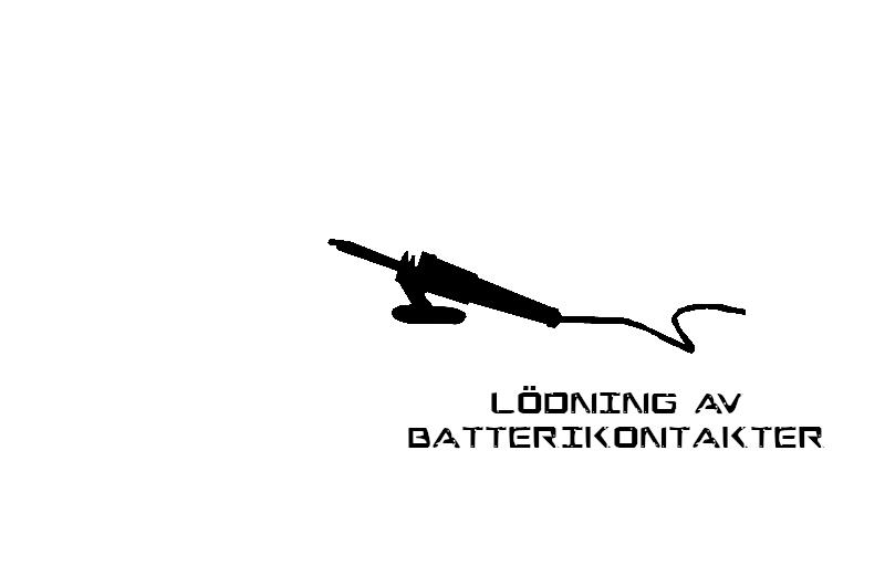 Lödning/ pressning av nya batterikontakter