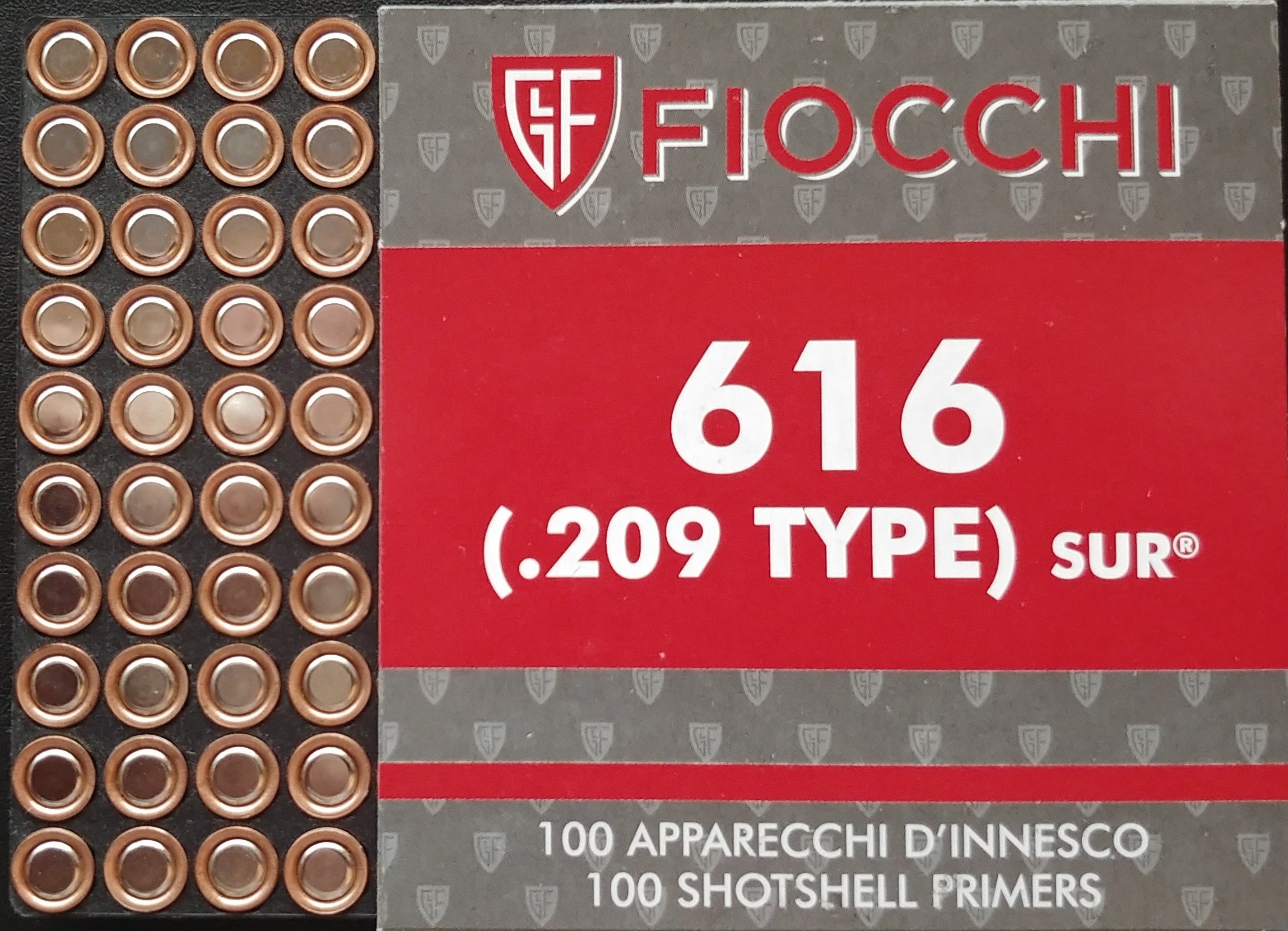 Fiocchi .209 primers till Quake- och TRMR-granater 100-pack